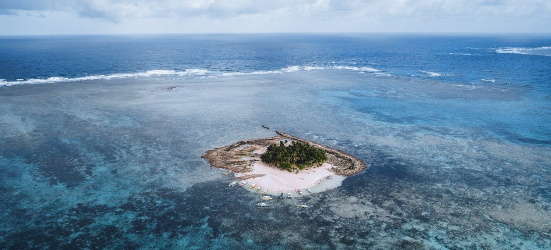 Ilmakuva Guyam saaresta Filippiineiltä