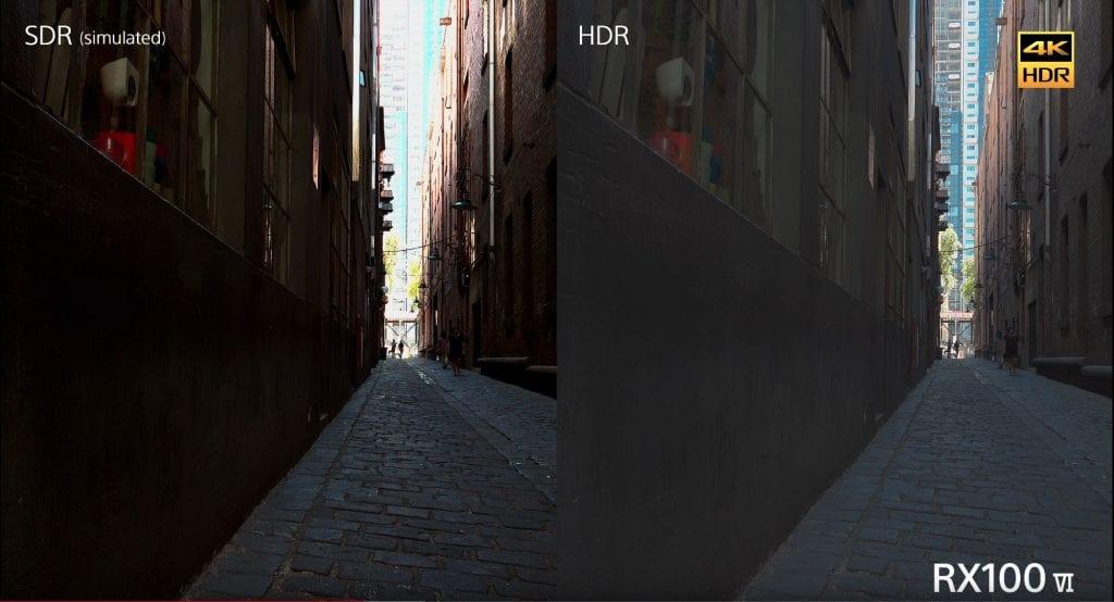 Sony RX100 VI tuotteen markkinointivideossa esitetty Hybrid log gamma
