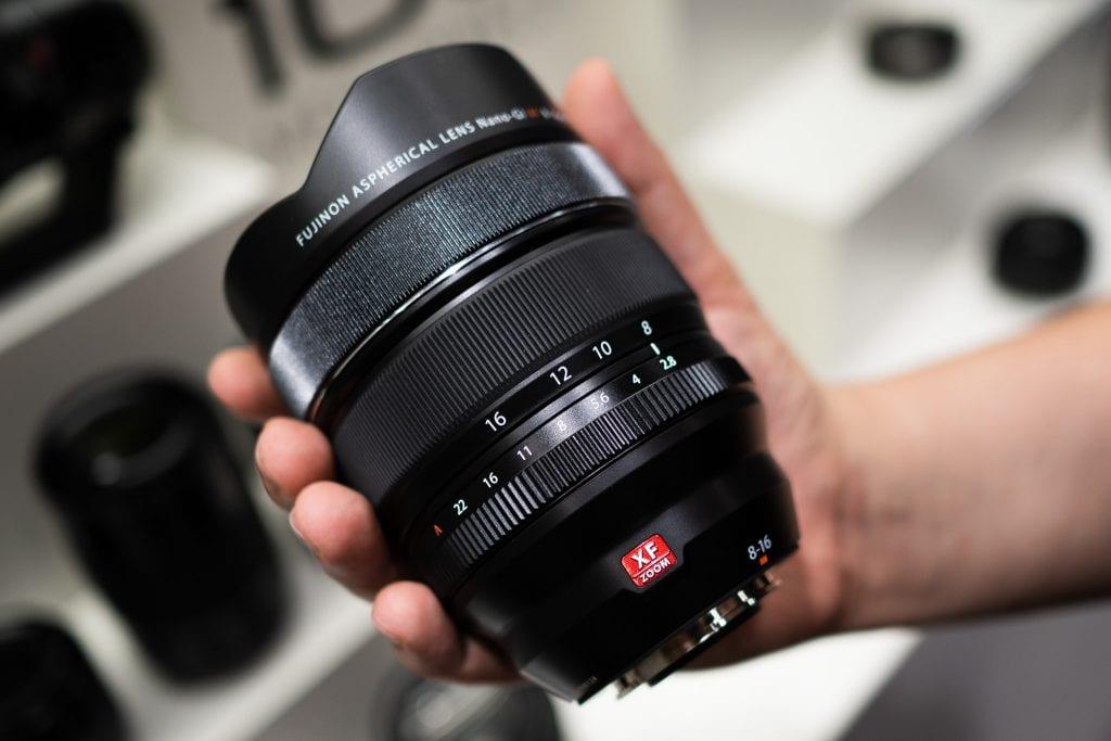Fujifilm 8-16mm f/2.8 ensituntumat Fujifilmin lehdistötilaisuudessa.