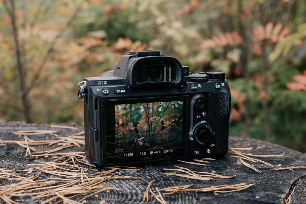 Sony A7III kamera takaa.