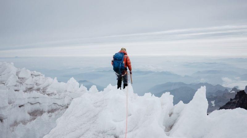 Jäinen vuoristomaisema