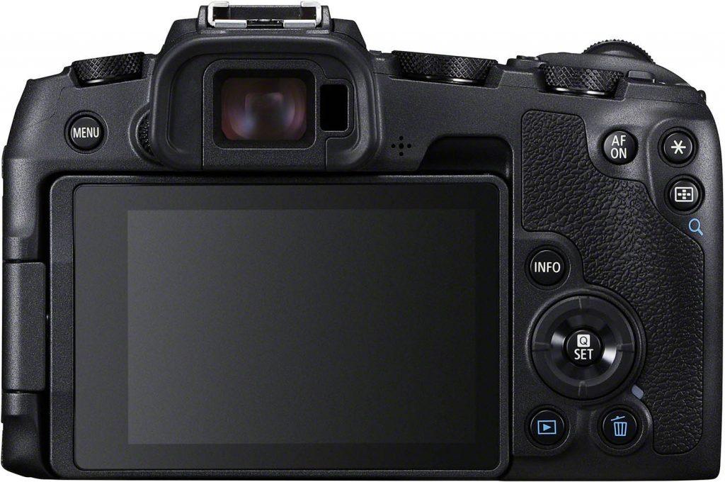 Canon EOS RP takanäyttö.