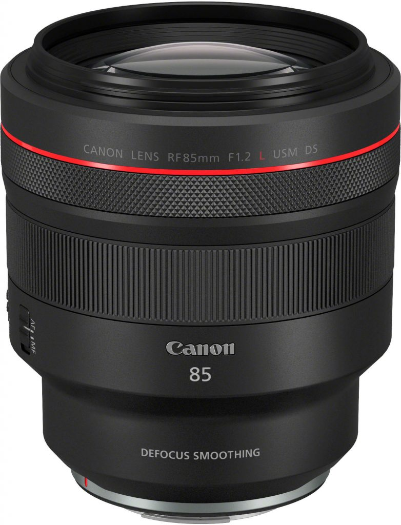 Canon RF 85mm f/1.2L DS -objektiivi.
