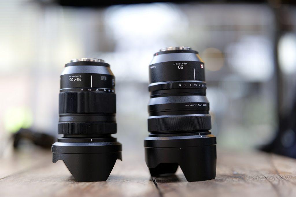 Panasonic 24-105 mm ja 50 mm -objektiivit